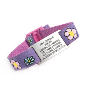KIDS MEDI WRIST - FLOWERS FABRIC
