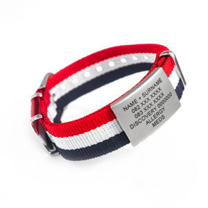 NATO STRAP AND TAG - 4 AVAILABLE COLOURS