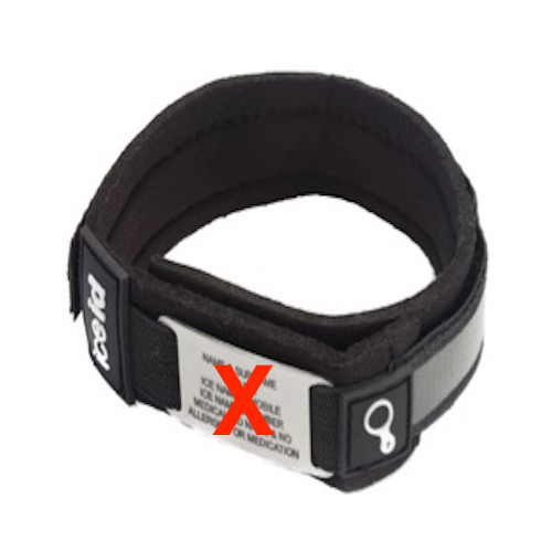 This REPLACEMENT ANKLE BAND is made with a soft neoprene inner strip and velcro to securely fit around your ankle without the scratch.