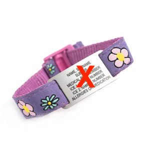 This adjustable REPLACEMENT KIDS WRIST BAND - FLOWERS FABRIC will fit kids of all ages and is also hand washable.