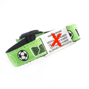 This REPLACEMENT KIDS WRIST BAND SOCCER FABRIC is adjustable to fit kids of all ages and is also hand washable.