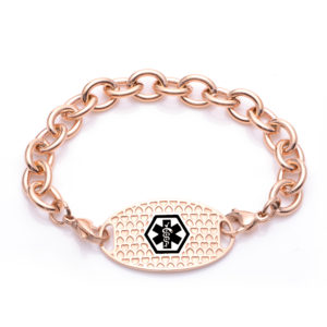 MEDICAL ALERT - CHARM LINKS - ROSE GOLD DIPPED