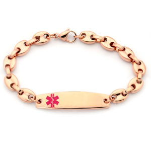 MEDICAL ALERT - GUCCI STYLE - ROSE GOLD