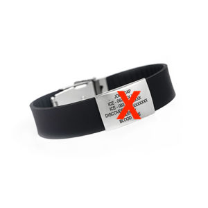 This REPLACEMENT STRAP IRONMAN DEBOSSED goes together with a pro tag and pro clasp and fits every size wrist.